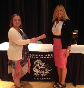 Janelle Balas and Rotary Member Brenda Jones.