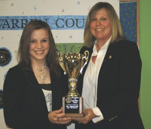 Taking top honors for her agricultural leadership, Tara Sleeman is the 2013 Rotary Agricultural Trophy winner.